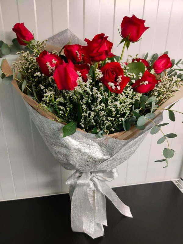 Taylor - Red Rose in Silver Wrapping